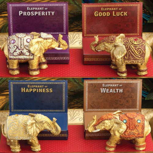 Decorative Mini Elephants Favors Set of 4