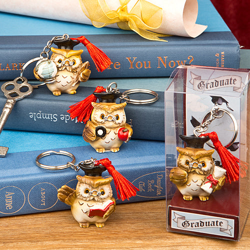Wise Owl Graduation Key Chains Set of 4