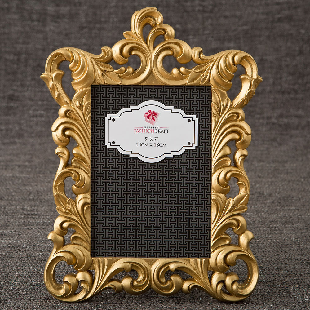 Gold Metallic Baroque Picture Frame 5 x 7