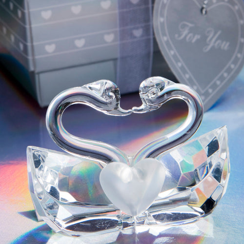 Crystal Kissing Swans Wedding Favors