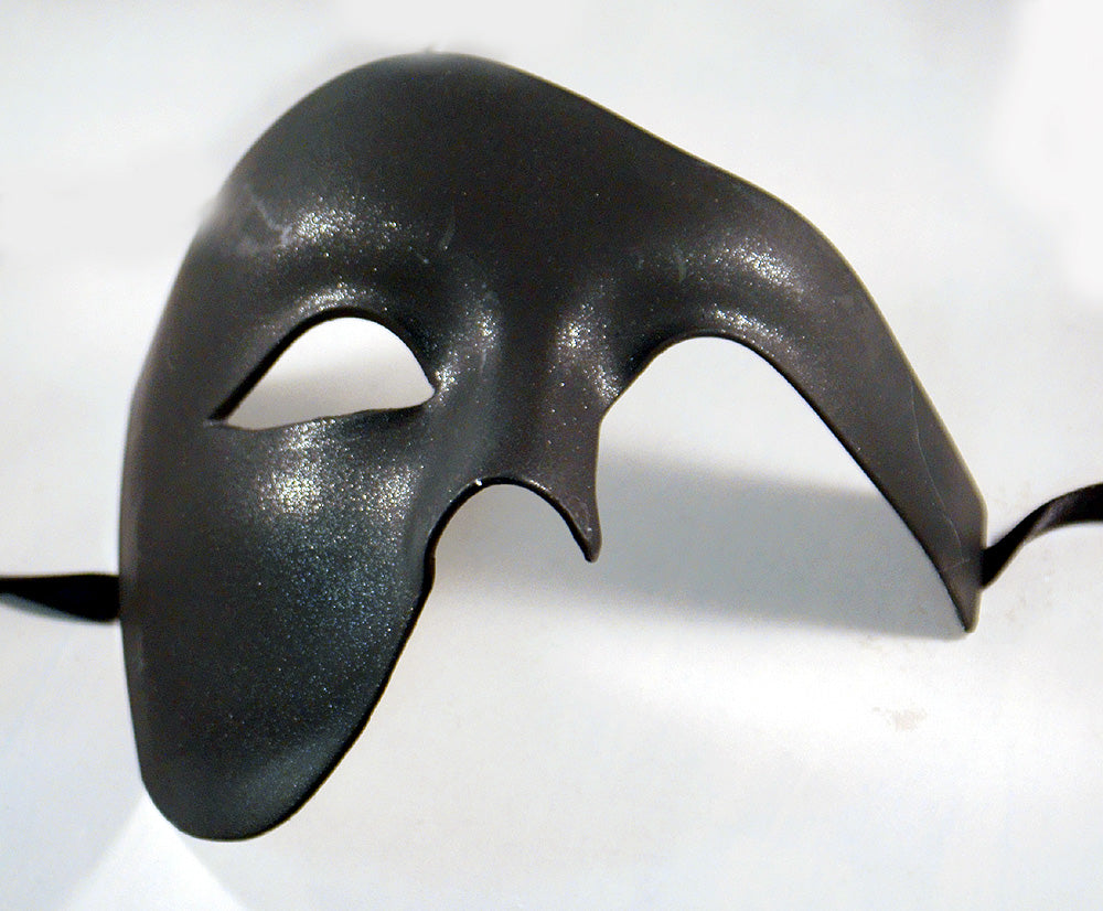 Masquerade Masks for Men Black Phantom of the Opera Mask
