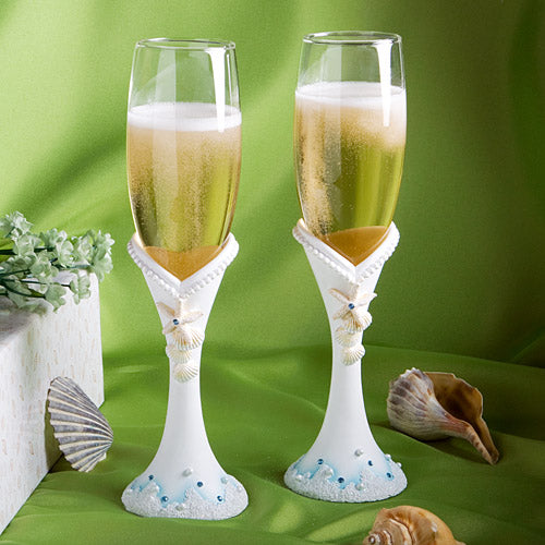 Finishing Touches Beach Themed Champagne Flutes