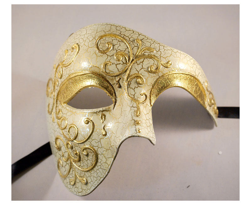 Gold Phantom of the Opera Vintage Design Masquerade Masks
