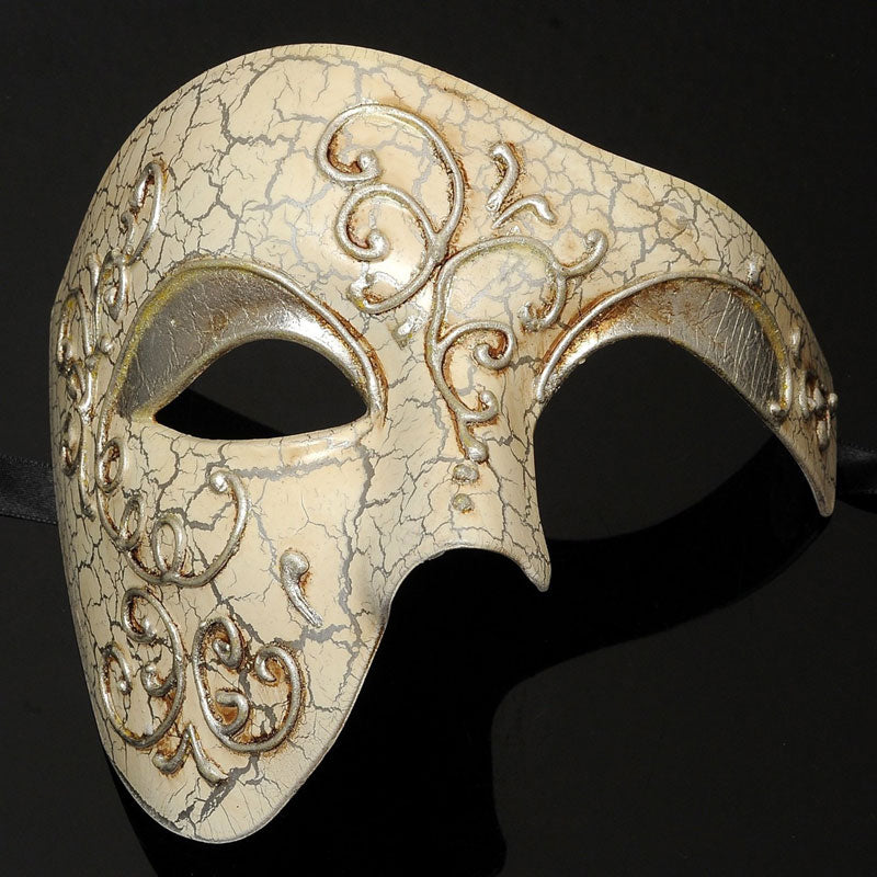 Silver Phantom of the Opera Vintage Design Masquerade Masks