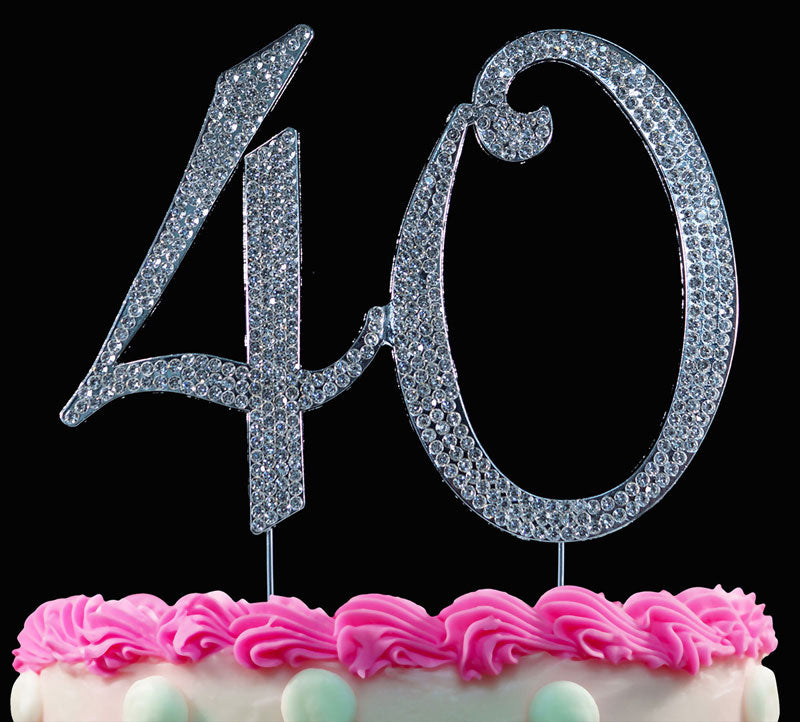 40th Birthday Cake Toppers Crystal Cake Topper 40 Anniversary Cake Toppers