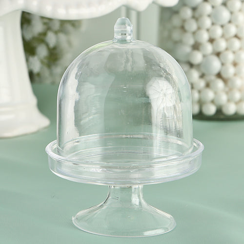 Clear Mini Cake Stand Cupcake Favor Wedding Favors Container Party Favors