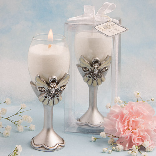Angel Design Champagne Flute Candle Holders