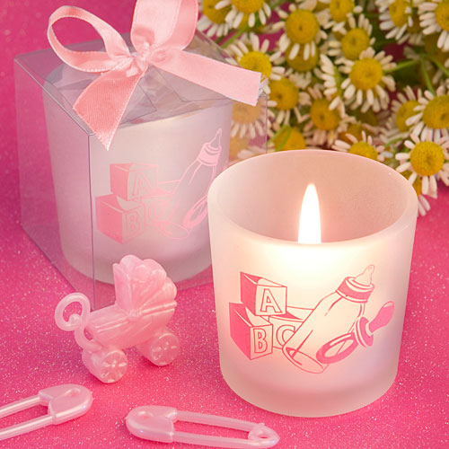 Baby Girl Themed Candle Favors