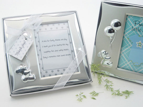 Bear's Best Wishes Brushed Photo Frame in Gift Box