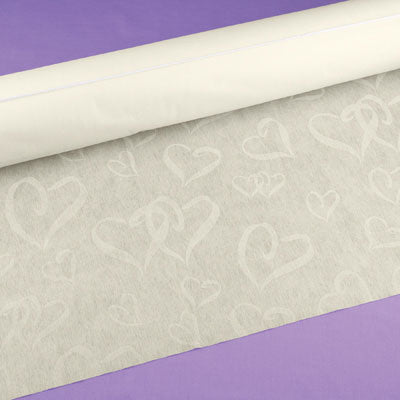Ivory Linked Hearts High-quality Durable Wedding Aisle Runner