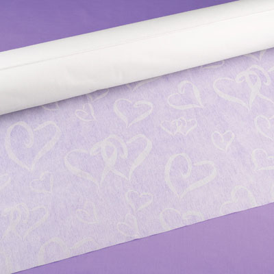 Linked at Heart White Wedding Aisle Runner 100 Feet Long