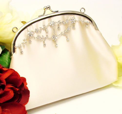 Beautiful Crystal Encrusted Bridal Purse