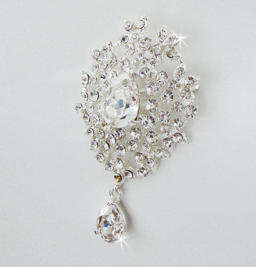 Swarovski Crystal Dangle Brooch