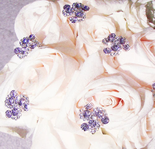 Light Purple Crystal Swirl Bouquet Jewels (Set of 2)