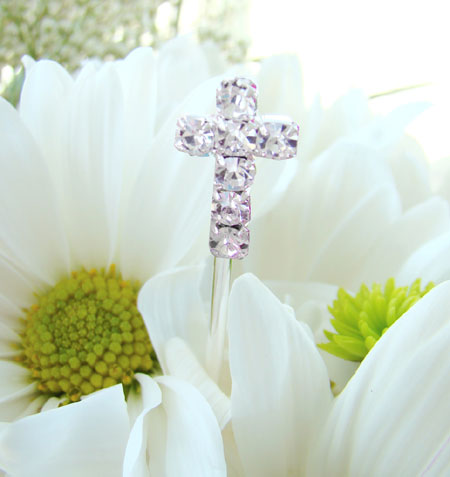 Bouquet Jewelry with Crystal Cross ( Set of 2)