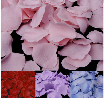 Silk Rose Petals (500 per pack; 26 Colors)