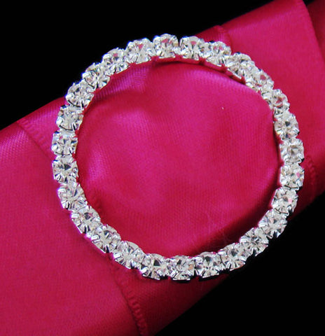 Bouquet Buckle - Circle Crystal Buckle Wedding Decorations
