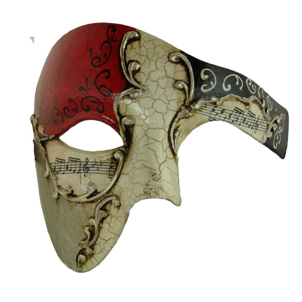 Phantom of the Opera Red Silver Musical Venetian Masquerade Masks