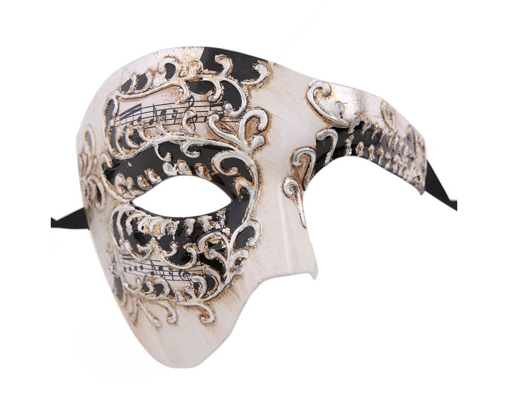 Phantom Masquerade Mask Musical Phantom of the Opera Vintage Design Silver Masks