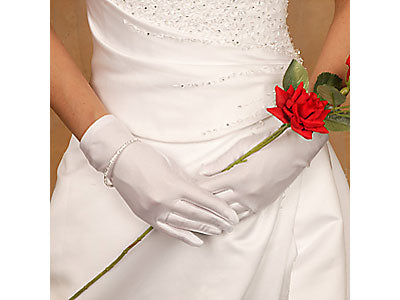 Matte Satin Wrist Length Bridal Gloves ( 15 Colors)