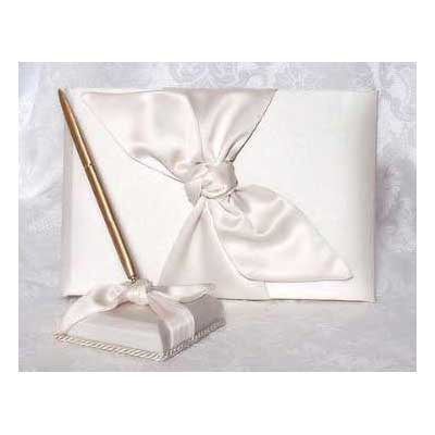 Love Knot Wedding Guest Book and Pen Set