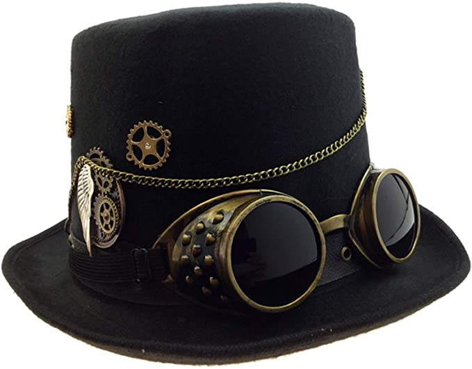 Adult Unisex Steampunk Gold Deluxe Fabric Top Hat