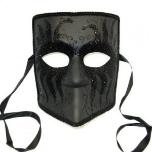 Masquerade Mask for Men Male Venetian Style Mask with Black Sparkles