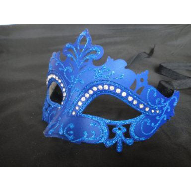 Crown Design Venetian Mask with Crystals on Eyes (6 Colors)