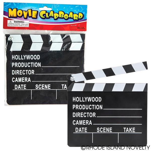 Hollywood Movie Clapboards Pack of 12