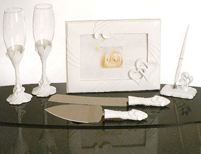 Two Hearts Become One Wedding Accessories Set