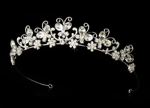 Butterfly Wedding Bridal Tiara with Swarovski Crystals