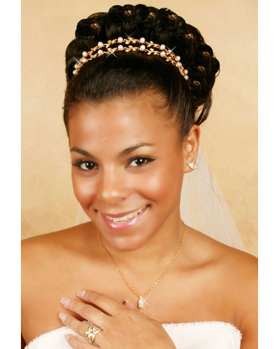 Crystal & Pearl Vine Gold Bridal Tiara Headband