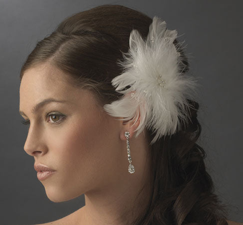 Feather Fascinator Floral Feather Hairpiece