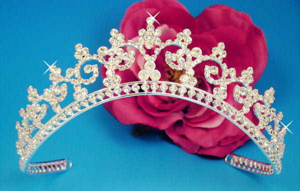 Silver Tiara with Clear Swarovski Crystals
