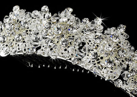 Intricately Hand Made Swarovski Crystal Comb