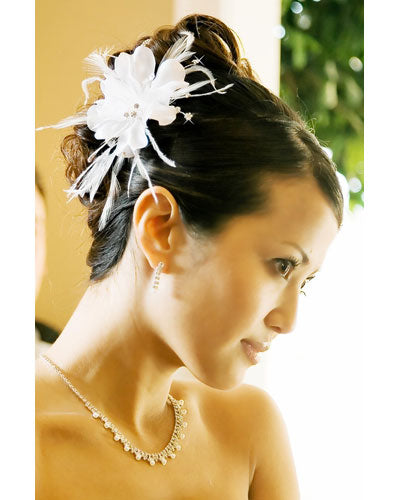 Floral Feather Fascinator Bridal Hair Accessories