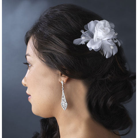 Floral Feather  fascinator Bridal Hairpiece