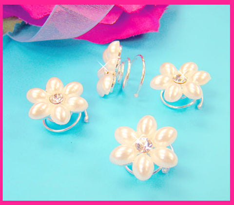 Pearl Crystal Hair Twist Ins Spinners (Set of 24)
