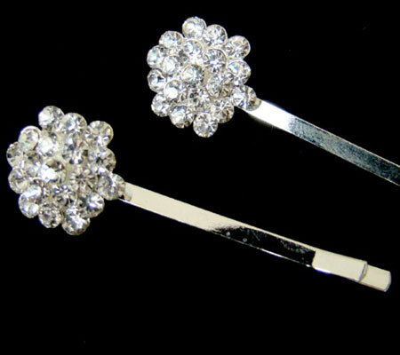 Crystal Cluster Hair Bobby Pin - Set of 2