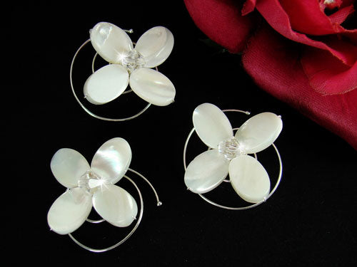 Flower Shell Hair Twist-Ins (Set of 3)
