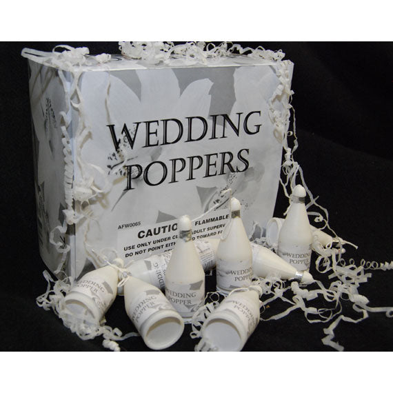 Wedding Poppers Pack of 144 Wedding Confetti Poppers