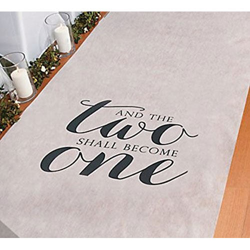 Two Become One Wedding Aisle Runners 100' Long Aisle Runner