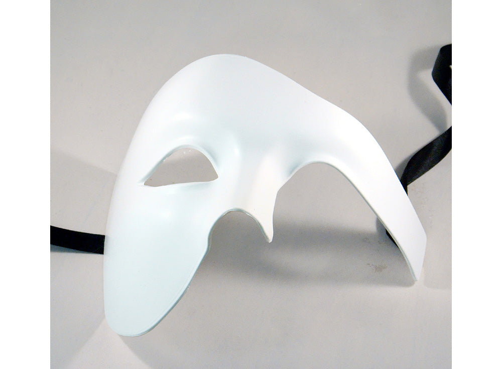 Masquerade Masks for Men White Phantom of the Opera Mask