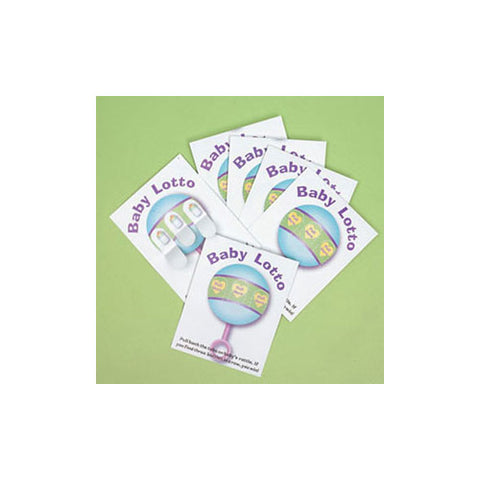 Baby Shower Games 24 Baby Shower Lotto Game Cards