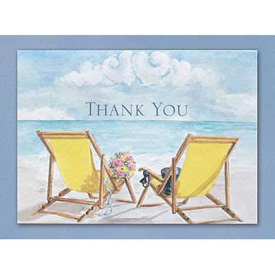 Wedding Thank You Cards Beach Theme Thank You Notes (Pack of 50)