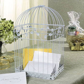 Wedding Birdcage Gift Card Holder White Card Boxes