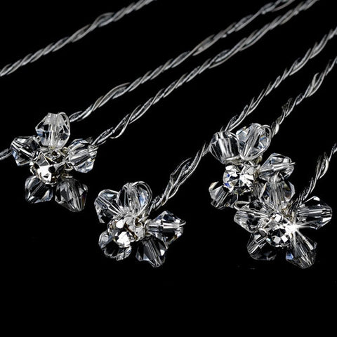 Bouquet Jewelry Petite Crystal Flower (Set of 6)