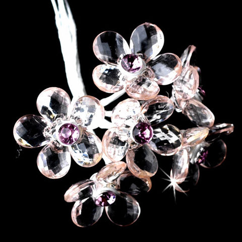 Crystal Flower Bouquet Jewelry (Set of 12)