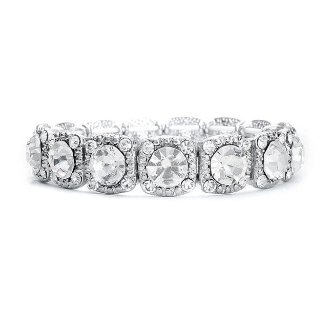 Best Selling Stretch Bracelet with Solitaires