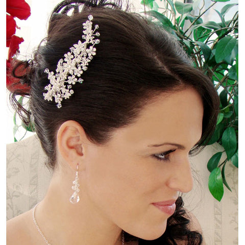 Swarovski Crystal Bridal Comb Silver or Gold